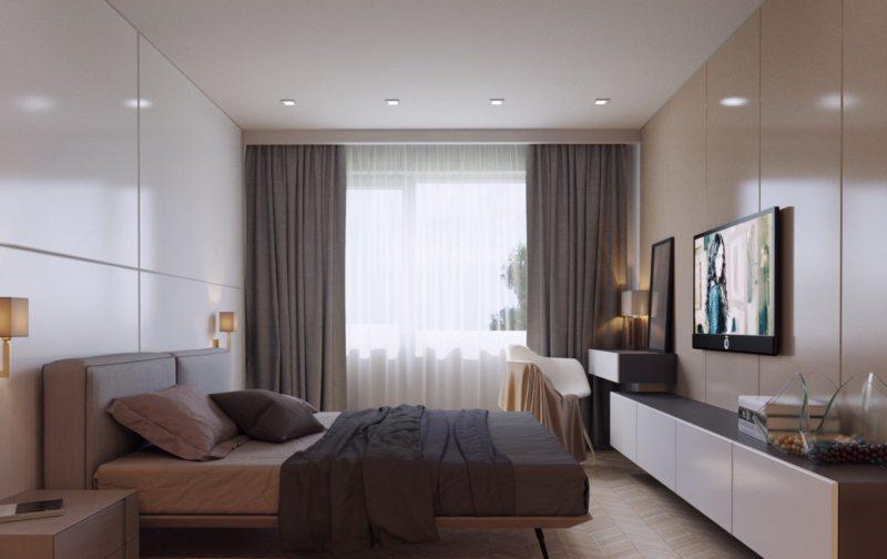 Телевизор в спальне. 4 идеи для Вашего дизайна - 2