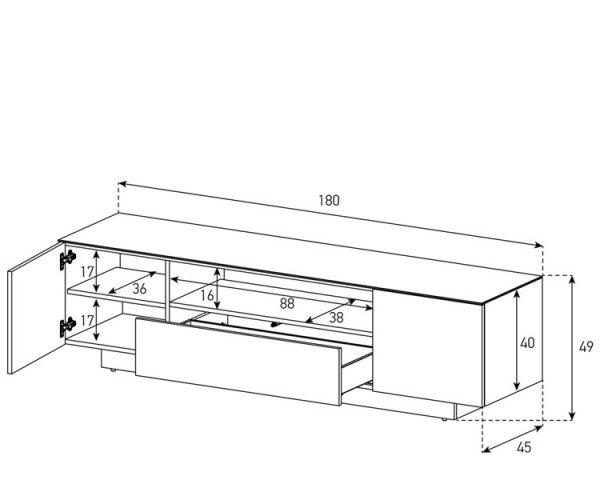 Схема Тумбы Sonorous LBA 1830-BLK