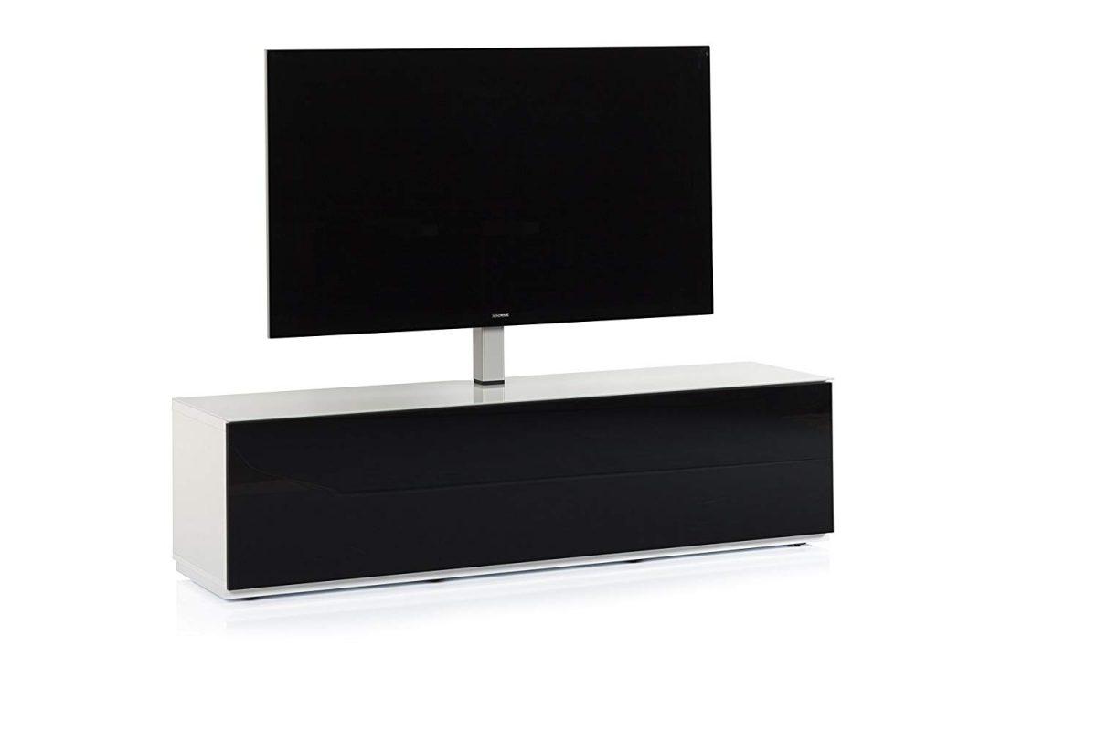 Тумба для ТВ с кронштейном Sonorous STA 161 белый корпус/фасад чёрное ДСП - 2