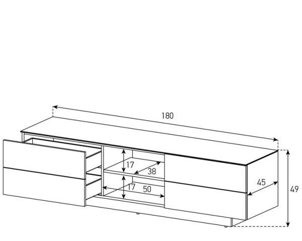 Схема Тумбы Sonorous LBA 1840 GWHT