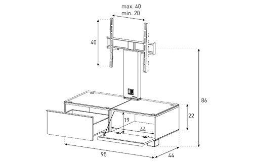 Тумба под телевизор Sonorous MD 8095-B-HBLK-BLK схема