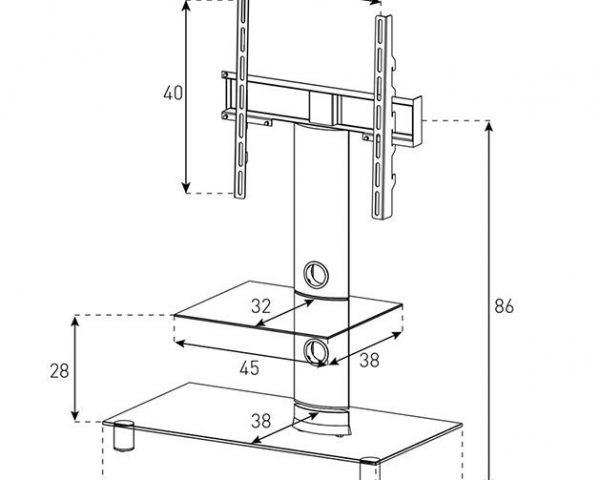 Стойка под телевизор Sonorous NEO 81-B-HBLK Схема