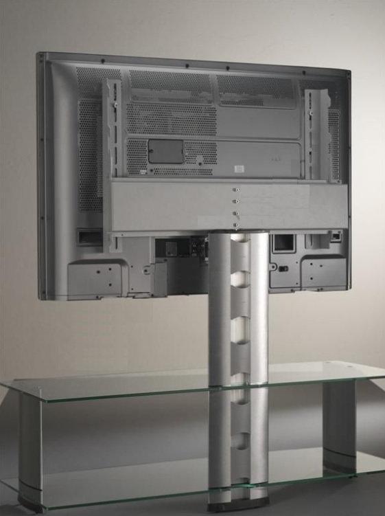 Стойка под ТВ Sonorous PL 2000-C-SLV вид сзади на кабель-канал