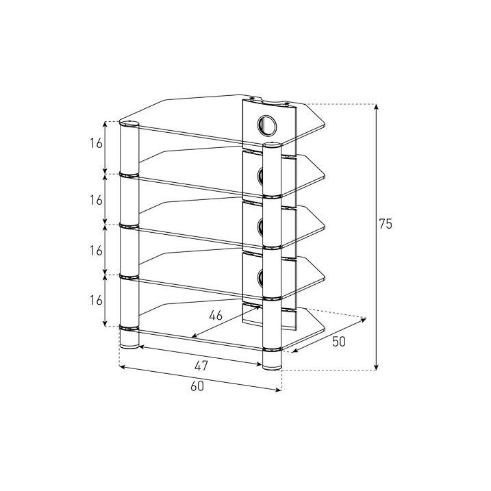 Стойка под AV-компоненты Sonorous RX-2150-B-HBLK схема