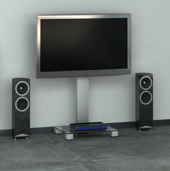 Стойка под ТВ Sonorous PL 2510-B-INX в интерьере