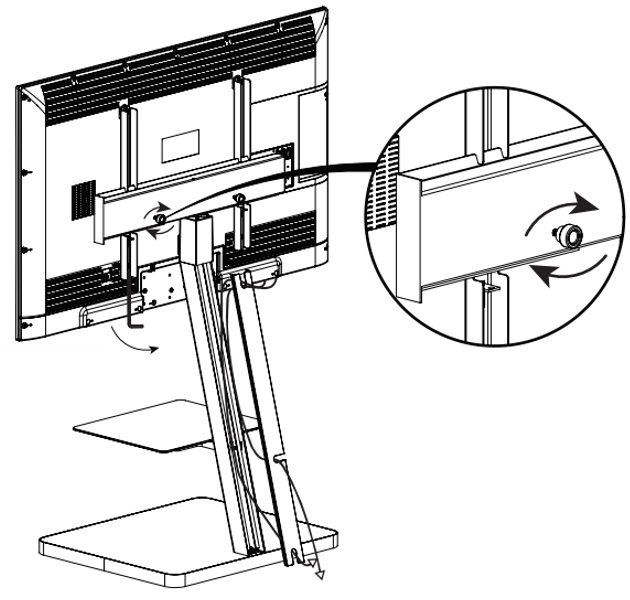 Стойка под телевизор Sonorous PL 2710-GRP-SLV схема крепления телевизора