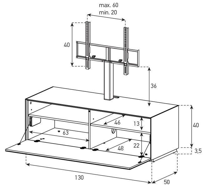 Тумба Sonorous серии ELEMENTS EX11PS схема