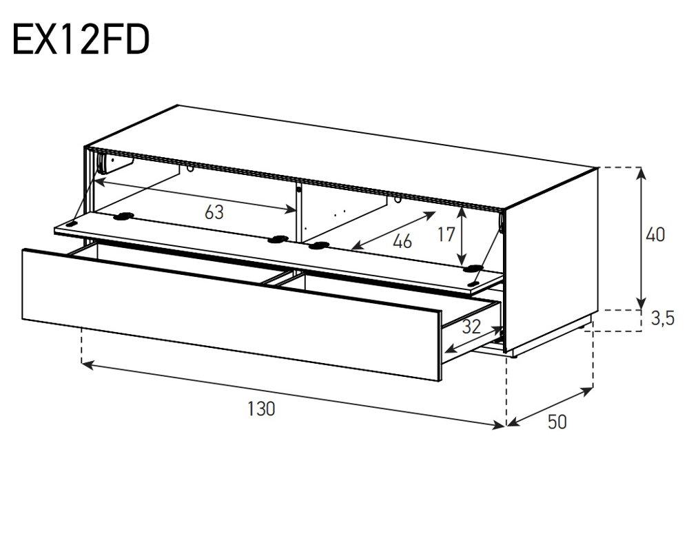 Набор тумб. Ширина 325 см EX12FD схема