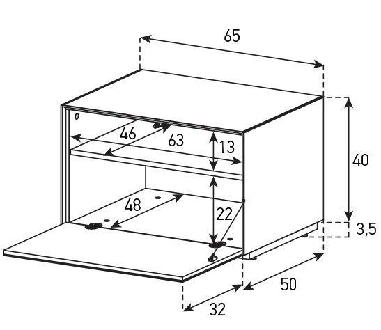 Тумба Sonorous серии ELEMENTS EX20F схема