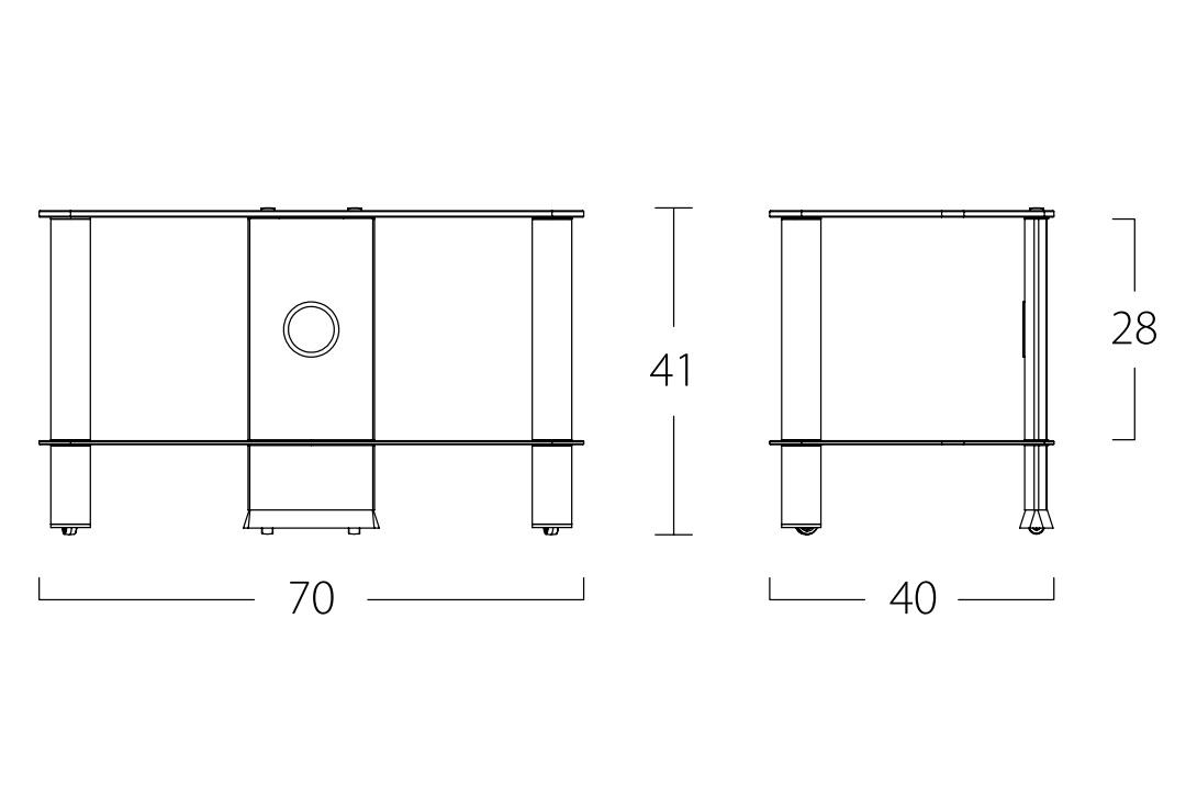 Тумба под ТВ до 32 дюймов Sonorous NEO 270-B-HBLK