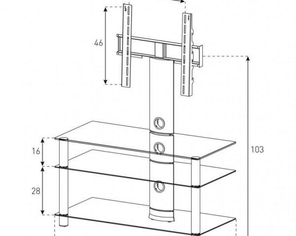 Стойка под телевизор Sonorous NEO 953-B-SLV -схема