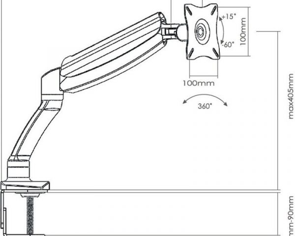 Кронштейн для ТВ и монитора Sonorous Surefix 715-схема