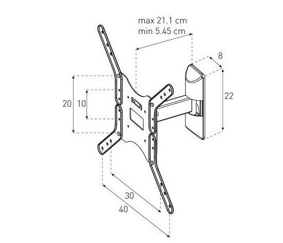 Крепление для телевизора Sonorous Surefix 511-схема