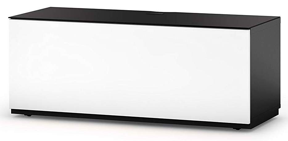 Тумба для ТВ Sonorous STA 110 черный корпус/белый фасад ДСП