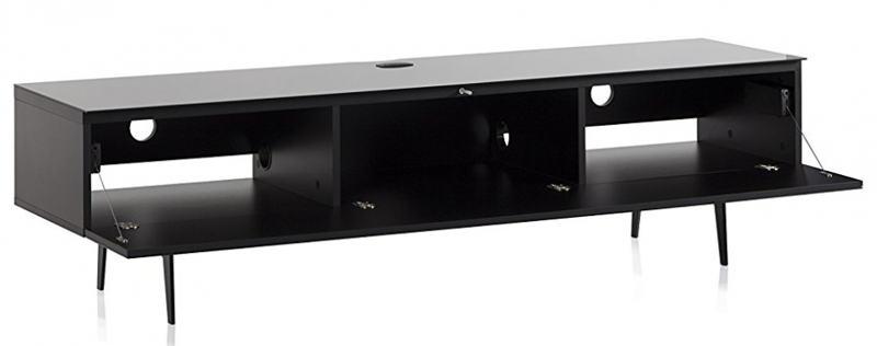 ТВ тумба на ножках Sonorous STA 360 черный корпус/фасад черное ДСП
