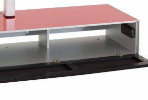 Низкая Тумба для ТВ и саундбара в стекле и ткани шириной 160 см