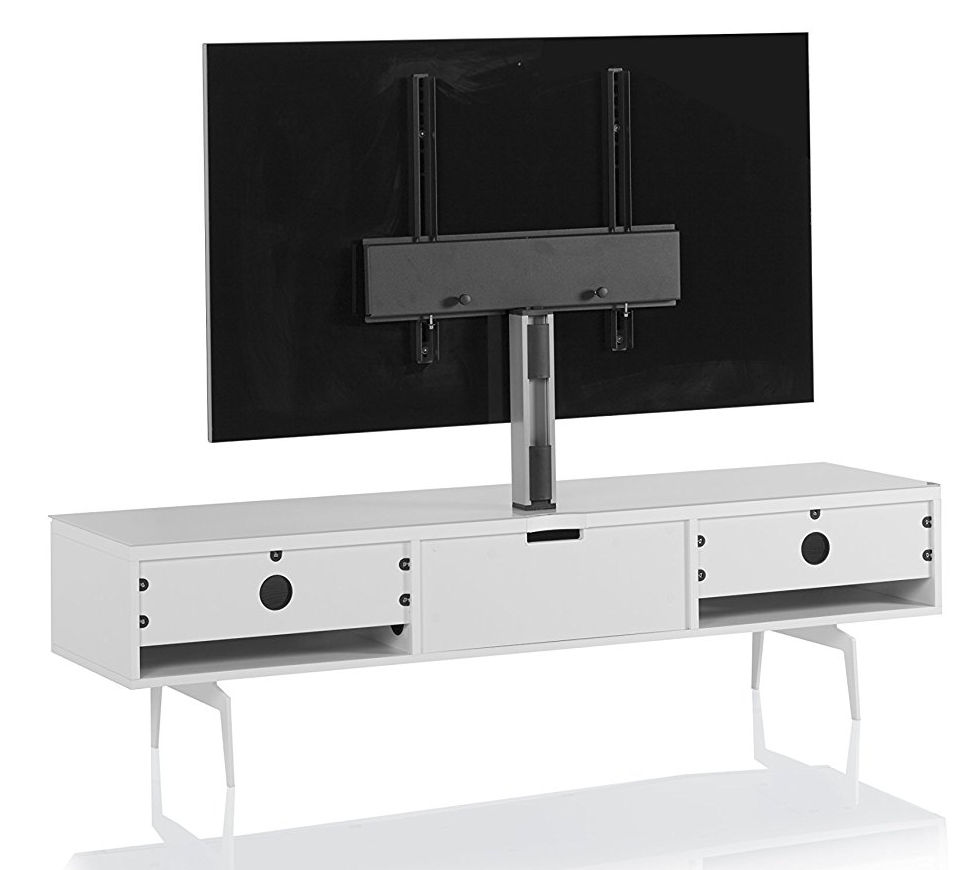Тумба для ТВ с кронштейном на ножках Sonorous STA 361 белый корпус/фасад MOLINA