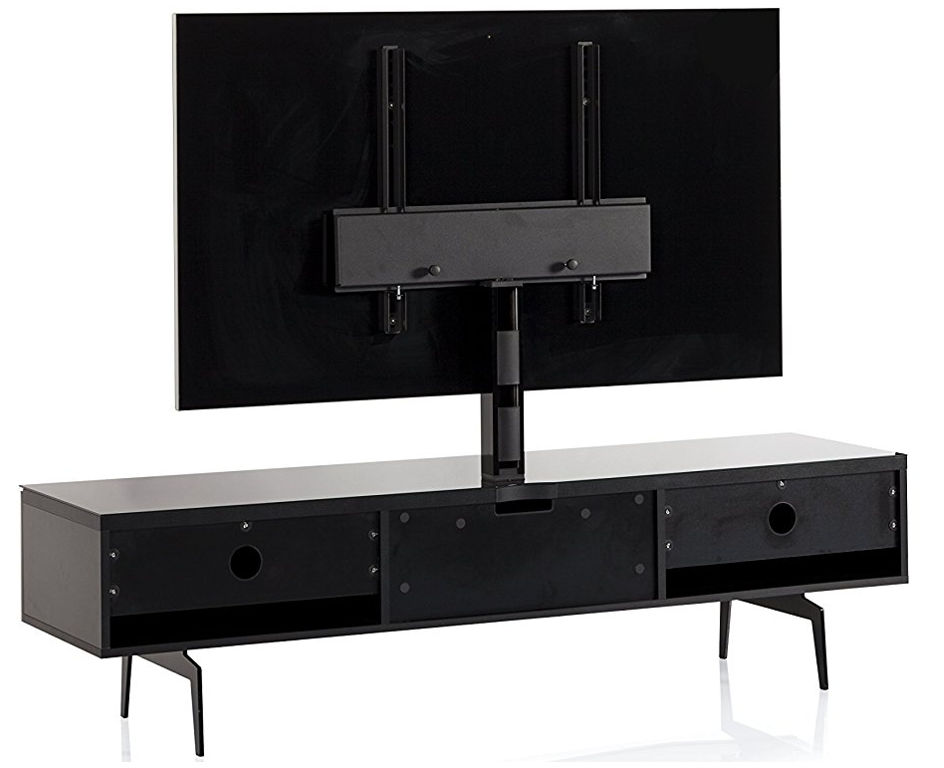 Тумба для ТВ с кронштейном на ножках Sonorous STA 361 черный корпус/черный фасад