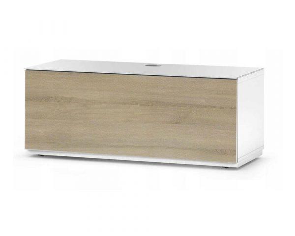 Тумба для ТВ Sonorous STA 110 белый корпус/фасад ДУБ