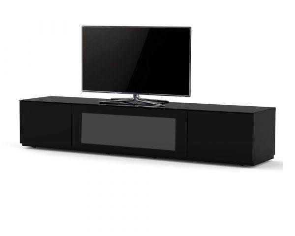 ТВ тумба Sonorous STA 200I (черный корпус в стекле)