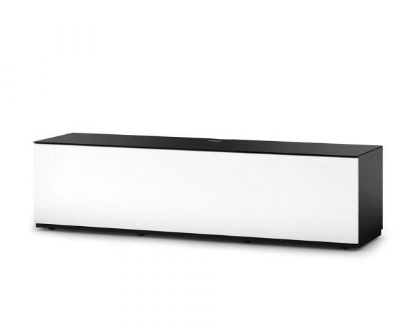 Тумба для ТВ Sonorous STA 160 черный корпус/фасад белое ДСП