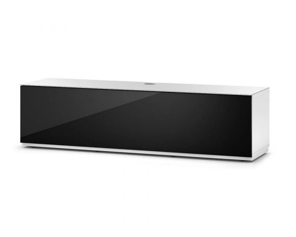 Тумба для ТВ Sonorous STA 160 белый корпус/фасад черное ДСП