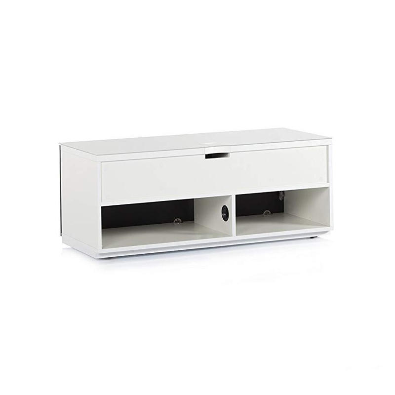 Тумба для ТВ Sonorous STA 110 белый корпус/черный фасад ДСП