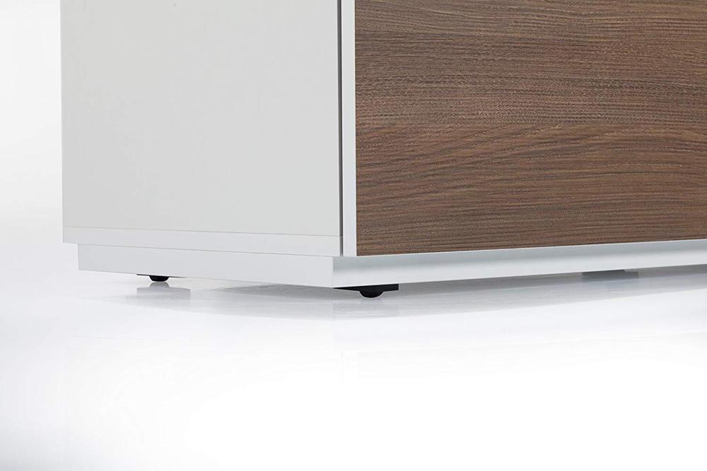Тумба для ТВ Sonorous STA 110 белый корпус/фасад ОРЕХ