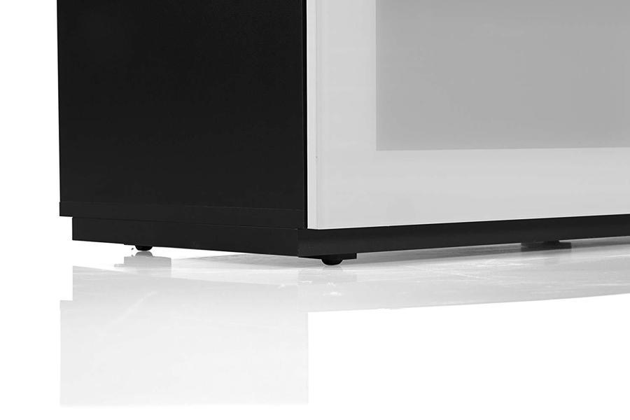 Тумба для ТВ Sonorous STA 110 черный корпус/фасад белое стекло