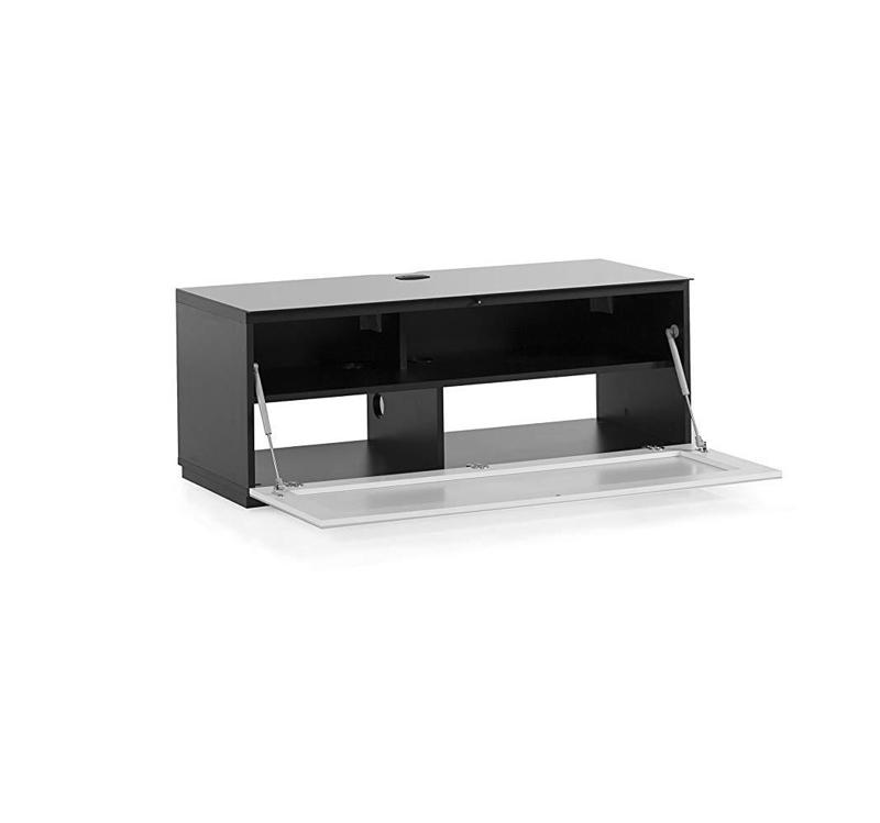 Тумба для ТВ Sonorous STA 110 черный корпус/фасад черное стекло