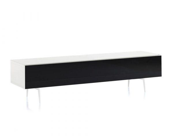 ТВ тумба на ножках Sonorous STA 360 белый корпус/фасад черное ДСП