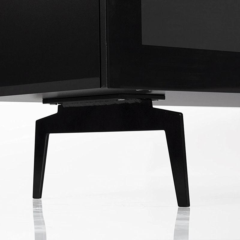 ТВ тумба на ножках Sonorous STA 360 черный корпус/фасад черное стекло