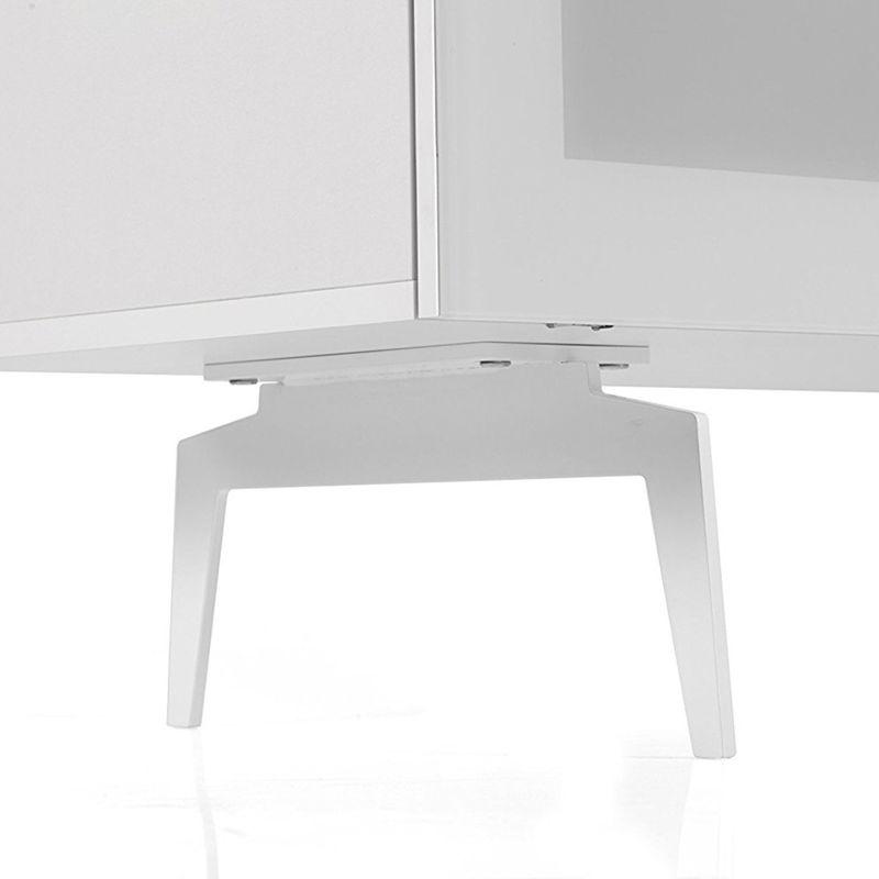 ТВ тумба на ножках Sonorous STA 360 белый корпус/фасад белое стекло