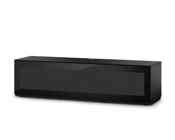 Тумба для ТВ Sonorous STA 160 черный корпус/фасад черное стекло