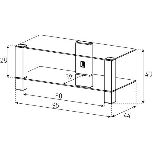 Тумба для телевизора до 55 дюймов Sonorous PL 3415-B-HBLK схема