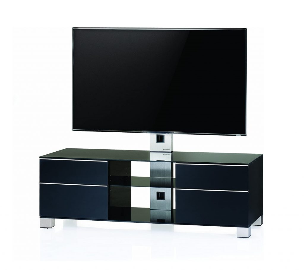 Тумба для ТВ с кронштейном Sonorous MD 8240-B-INX-BLK